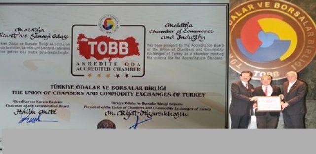 Malatya TSO'nun 'Akreditasyon Belgesi' yenilendi