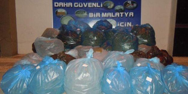 Malatya'da 232 Kilo Esrar Ele Geçirildi