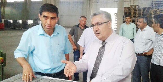 Maski Genel Müdürü Özgür Özdemir Beton Fabrikasını Gezdi