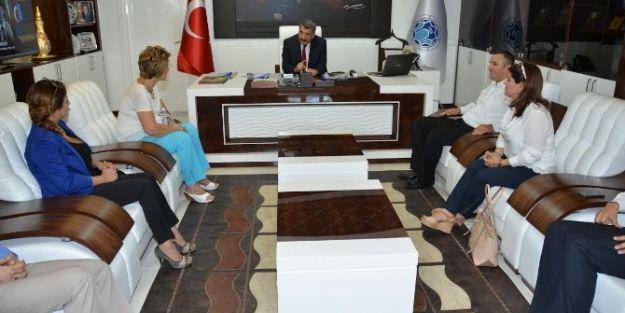 Mimarlar Ve İnşaat Mühendislerinden Başkan Selahattin Gürkan'a Ziyaret