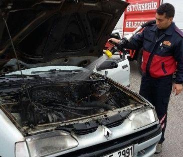 Muayeneden Çıkan Otomobilde Yangın Çıktı