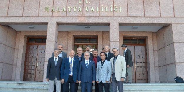 Muhtar Dernekleri Vali Süleyman Kamçı'yı Ziyaret Etti