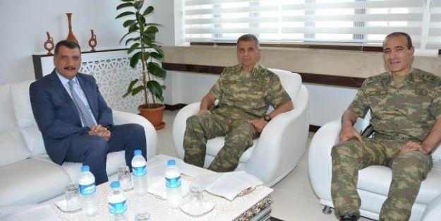 Orgeneral Mendi Ve Tümgeneral Aktı, Başkan Gürkan'ı Ziyaret Etti