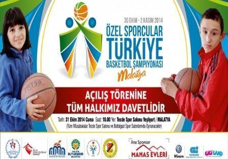 Özel Sporcular Türkiye Basketbol Şampiyonası 31 Ekim'de Başlayacak