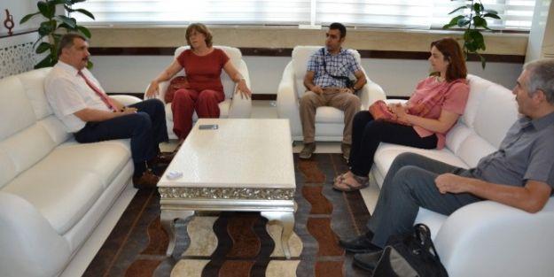 Prof. Dr. Frangipane, Belediye Başkanı Selahattin Gürkan'ı Ziyaret Etti