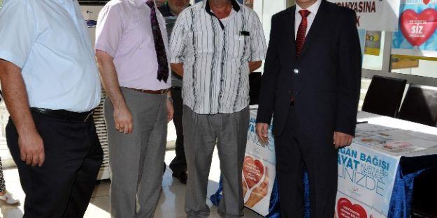 Ptt'de Organ Bağış Standı Kuruldu