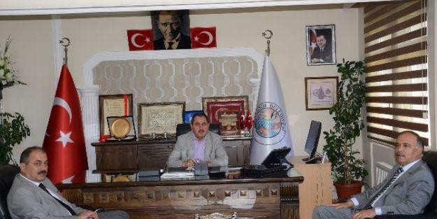 Rektör Cemil Çelik'den Darende Belediye Başkanı Süleyman Eser'e Ziyaret