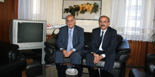 Sami Er, Mtso Başkanı Hasan Erkoç'u Ziyaret Etti