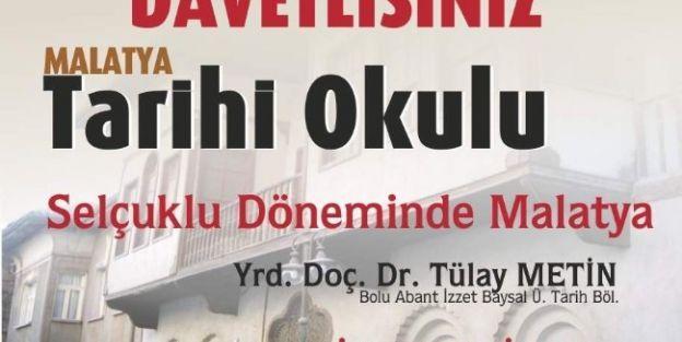 'selçuklu Döneminde Malatya' Konulu Konferans 5 Ekim'de