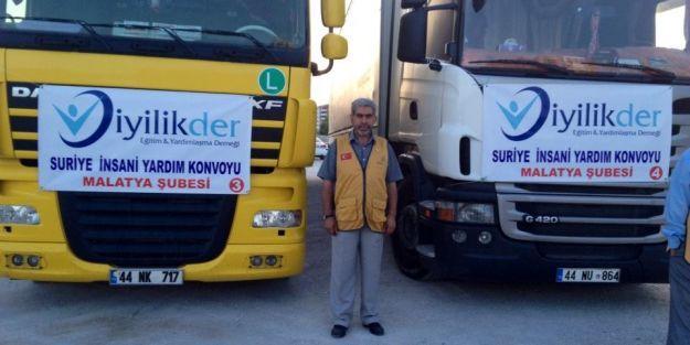 Suriye'ye yardım TIR'ı gönderildi