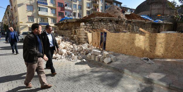Tarihi Tahtalı Hamamın Restorasyonuna Başlandı