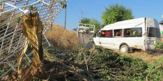 Tarım İşçileri Kaza Yaptı: 19 Yaralı