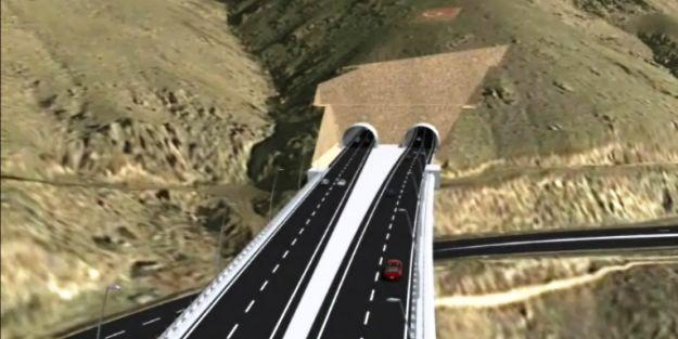 Tünelde kalan Karayolları, köprüden geçemedi!