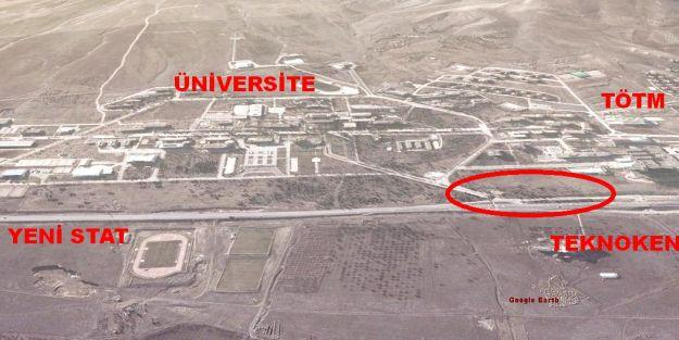 Üniversite ve TÖTM arasında köprülü kavşak projesi