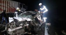 Otomobil ile kamyon çarpıştı: 1 ölü