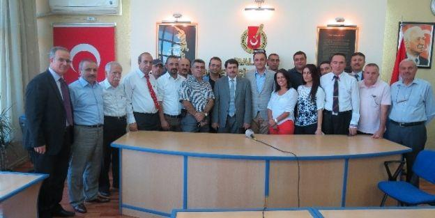 Vali Şahin'den Malatya Gazeteciler Cemiyeti'ne Veda Ziyareti